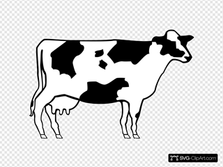 Simple Cow Art