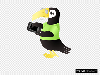 Toucan With Tablet