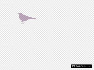 Pink Bird Silhouette 3