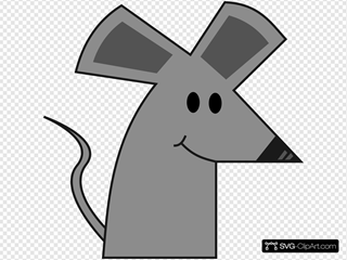 Cute Smiling Cartoon Mouse