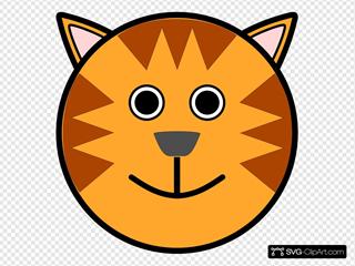 Circle Tiger Head