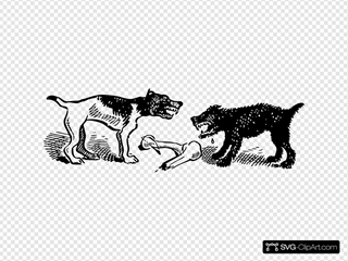 Dogs Fighting Over A Bone