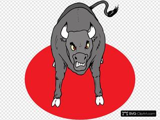 Angry Growling Bull