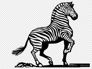 Wood Cut Zebra
