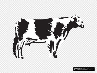 Side View Cow Sketch