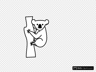 Koala Outline Clipart