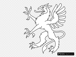 Scary Bird White SVG Clipart