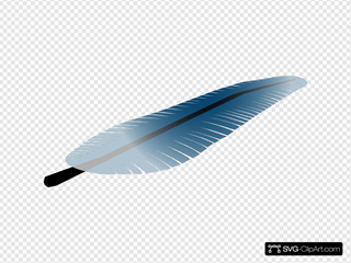 Blue Feather SVG icons