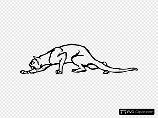 Creeping Cat SVG Clipart