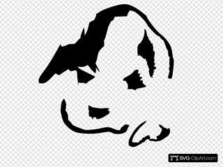 Puppy Face Lineart