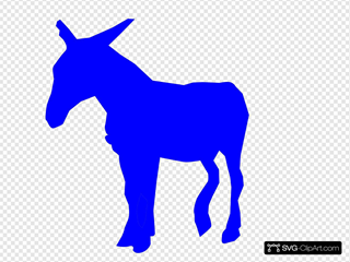 Blue Donkey SVG Cliparts