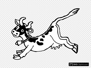 Jumping Cow SVG Cliparts