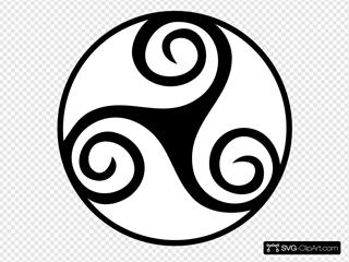Celtic Triskell SVG Clipart