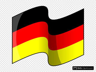 Waving German Flag SVG Clipart