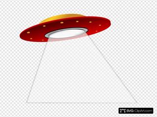 Ufo Spaceship Alien SVG Clipart