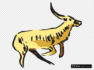 Jumping Antelope Clipart