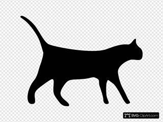 Cat Silhouette SVG Cliparts