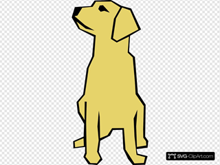 Dog Simple Drawing In Color