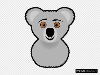 Koala SVG Clipart