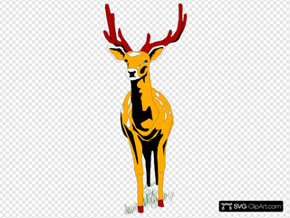 Deer Front View SVG Clipart