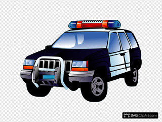 Police Car SVG icons
