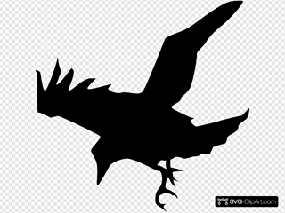 Raven Silhouette SVG Clipart