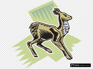 Standing Deer Art
