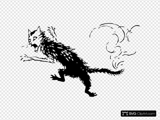 Freaky Cat Clipart