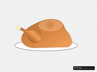 Turkey On Platter SVG Clipart