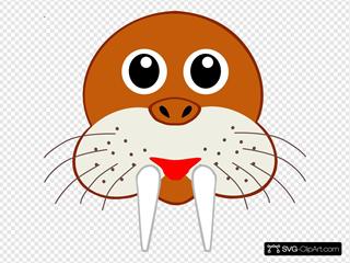 Cartoon Walrus Face