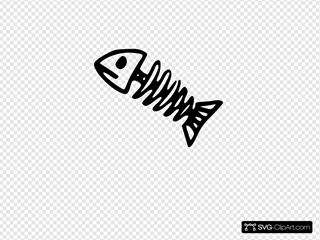 Fish Skeleton Clipart
