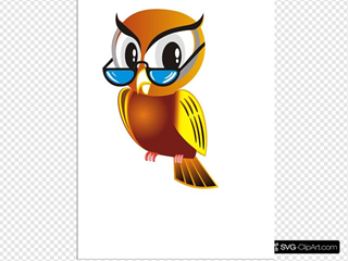 Owl With Glasses No Branch