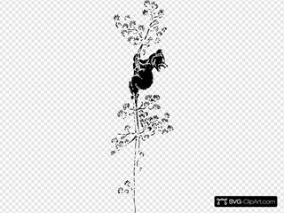 Bear Cub Up A Tree SVG Clipart