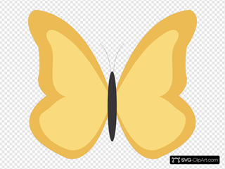 Plain Butterfly SVG Clipart