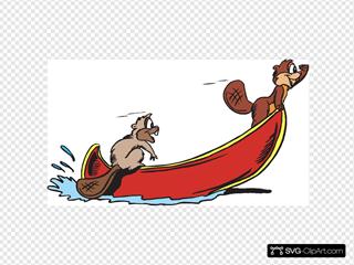 Beavers Rowing