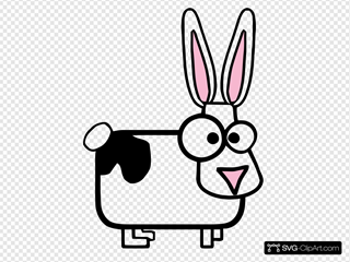 Cartoon Rabbit With Black Spot