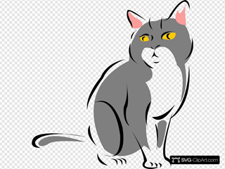 Stylized Gray Cat