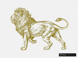 Lion Real Gold Clipart