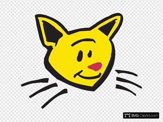 Smiling Cat Art