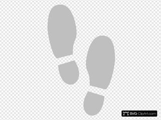 Shoe Print 2 SVG Clipart