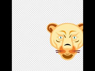 Lion Face SVG Clipart