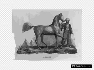 Araber Arabian Horse SVG Clipart