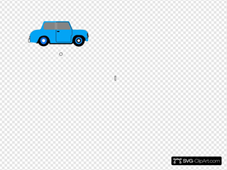 Animated Blue Car