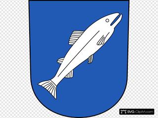 Fish Wipp Rheinau Coat Of Arms