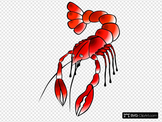 Crawfish 3 SVG Clipart