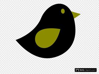 Olive & Black Birdie