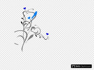 Blue Bird On A Vine
