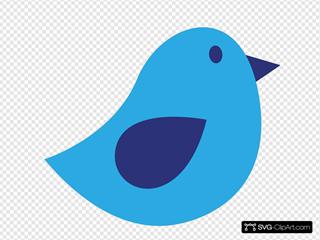 Blue Bird With #1