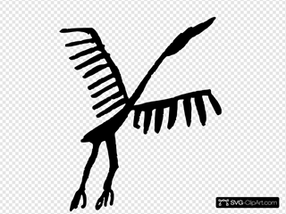 Rock Art Stork