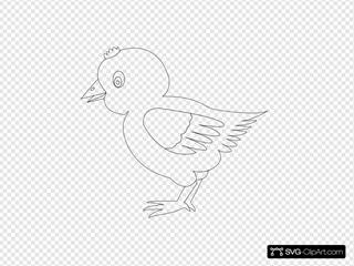Chicken 002 Vector Coloring